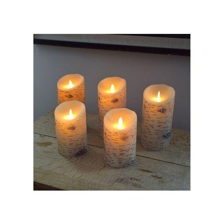 "Birch Flameless Flicker Candle 7"""