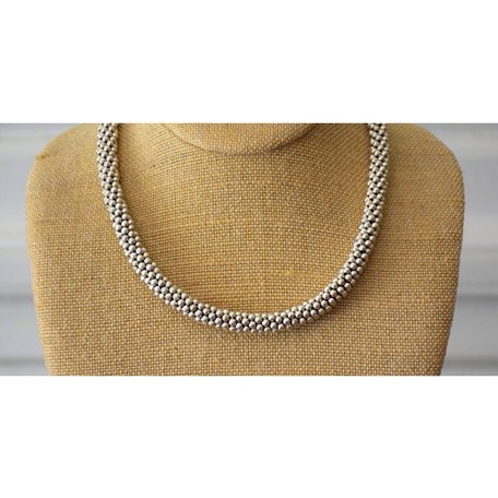 Pewter Dot Necklace