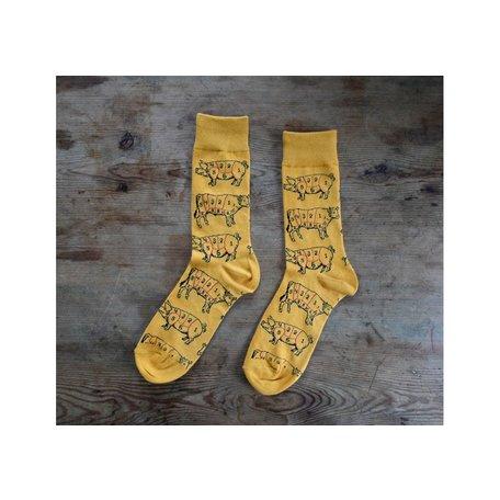 Men's Meat Lover Socks in Gold