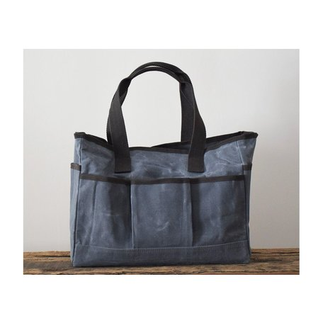 Waxed Canvas Utility Tote in Slate