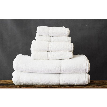 Gramercy Linen and Cotton Tip Towel in White