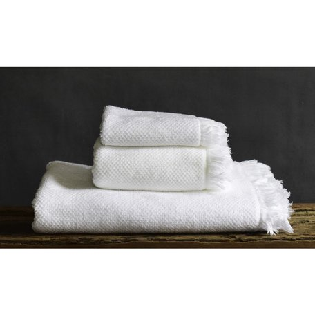 Antico Bath Towel Bath in White