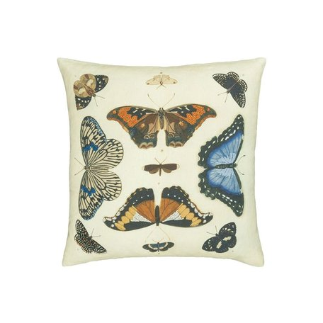 Mirrored Butterflies Parchment Pillow