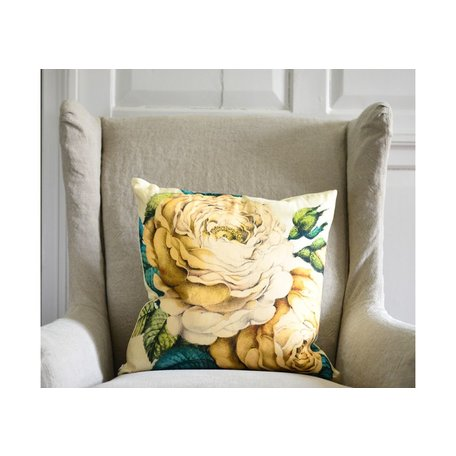 The Rose Sepia Pillow