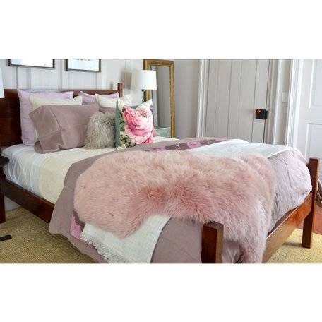 Australian Single Sheepskin in Dark Rose