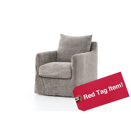 Ford Swivel Chair in Stonewash Jute