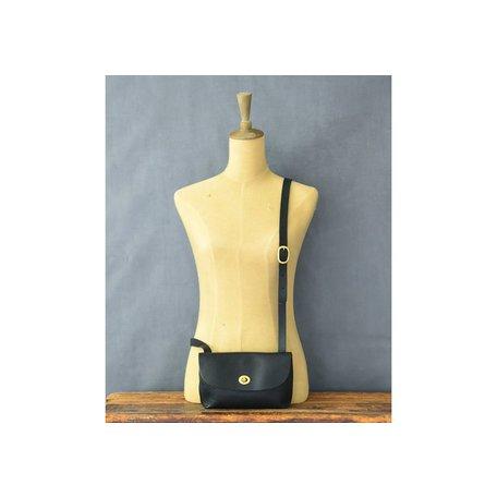 Handmade Leather Georgia Bag in Black