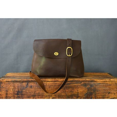 Handmade Large Leather Jenny Bag in Bubble Brown