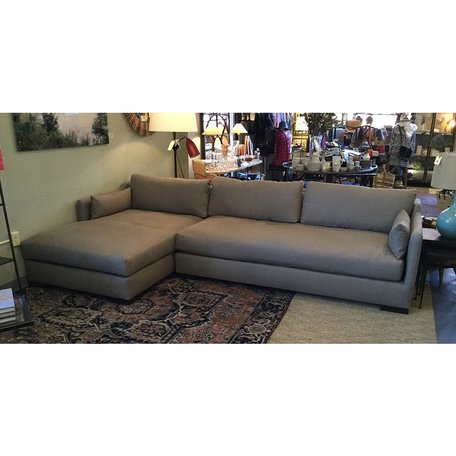 Dexter Sectional in Brevard Pewter w/ Feather Cloud Cushions and Bench Seat by Cisco Brothers