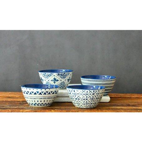 Indochine Ikat Melamine Dip Bowls, Set of 4