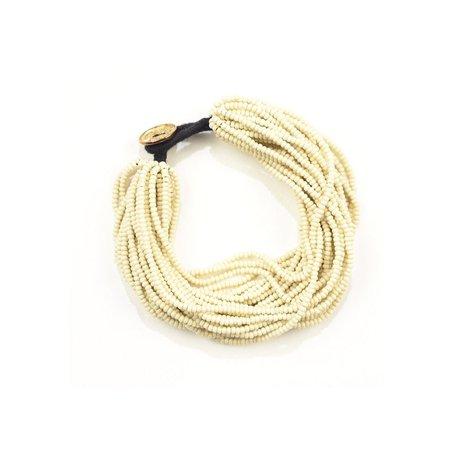 Ivory Multi Layer Seed Bead Bracelet