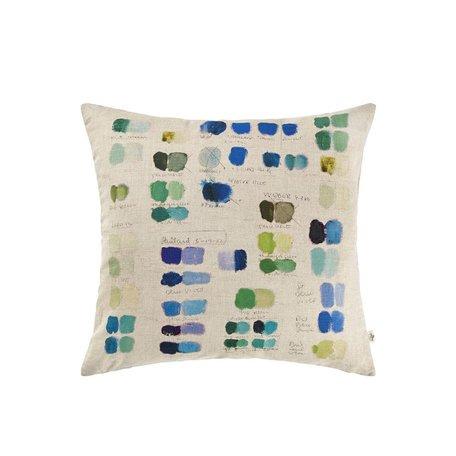 John Derian Mixed Tone Cobalt Cushion