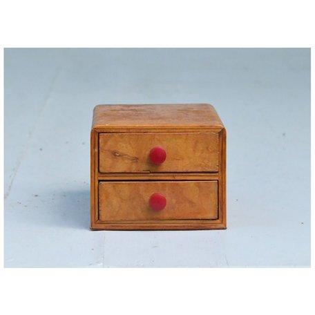 Vintage 1940's Two Drawer Box w/ Bakelite Knobs