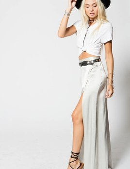 Stillwater LA Stillwater Mock Wrap Maxi Skirt  Glass