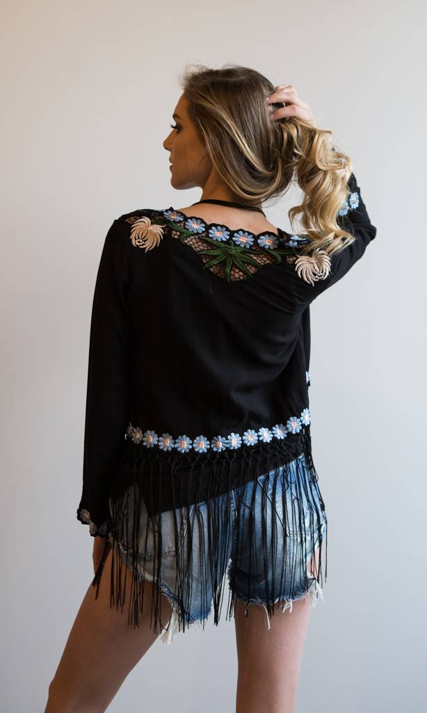 Cleobella Cleobella Tango Kimono- Black