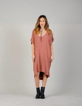 NYTT NYTT Oversize Dress with Pockets in Pink Rust