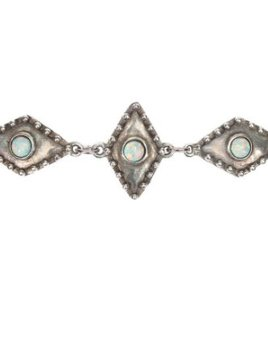 2 Bandits 2Bandits Wild Eyes Linked Choker Antique Silver/Opal