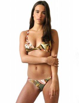 Serendiptiy Serendiptiy Palms Print Triangle Bikini Top
