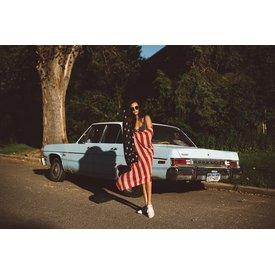 Golden Stella American Flag Scarf