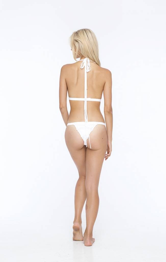 Indah Indah outlaw bikini top macrame triangle