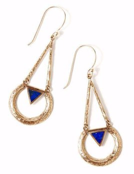 Tribe Tribe Eclipse Earring Gold/Lapis