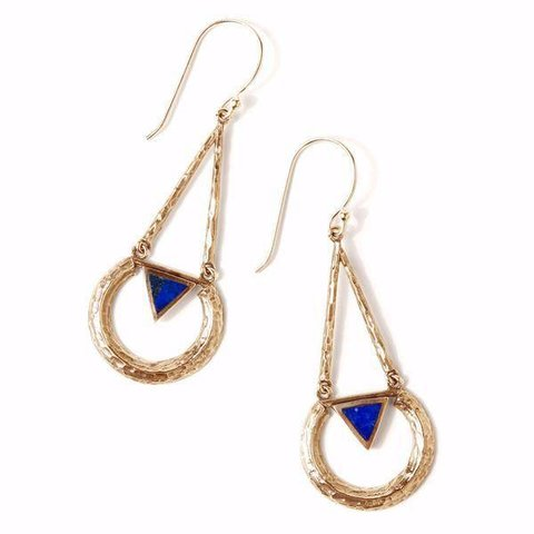 Tribe Eclipse Earring Gold/Lapis