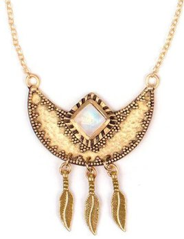 TRIBE Tribe Divided Sky Necklace Gold / Moonstone