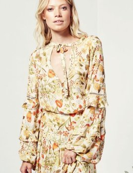 Spell and the Gypsy Collective Spell Sayulita Blouse Sunflower