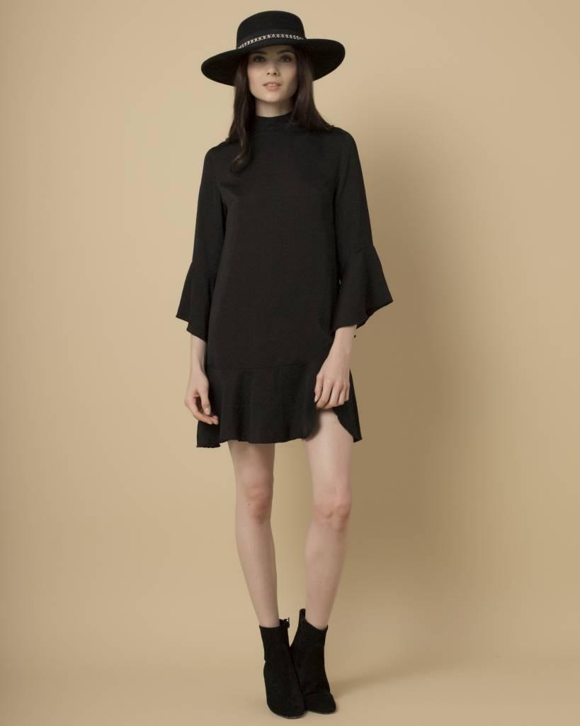 Goldie Goldie Black Satin Shift Dress