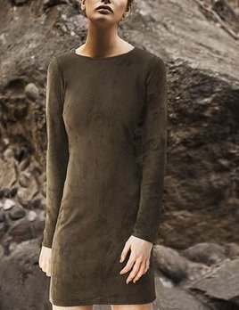 ASTARS ASTARS Vegan Dress Military Green Suede