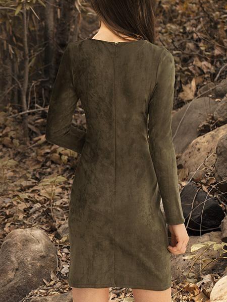 ASTARS ASTARS Vegan Dress Military Green Suede