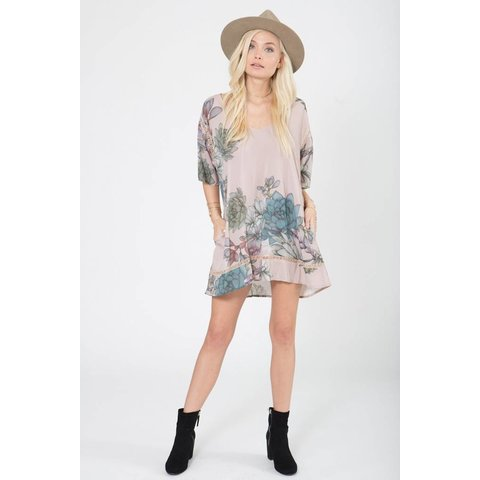 Stillwater Pocket Tunic Dress Plants of Paradise