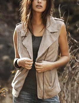 ASTARS ASTARS Borderline Vegan Suede Vest Tan