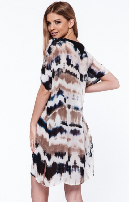 Young, Fabulous & Broke Clothing YFB Coast Tunic Taupe Abstract