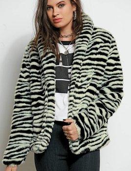 Stone Row Stone Row Faux Fur Luv Coat
