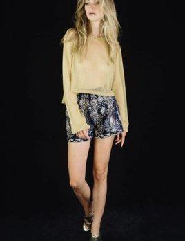 Lenni the Label Lenni Rumi Shorts Navy Velvet