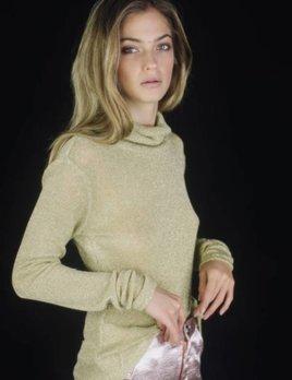 Lenni the Label Lenni Illusion Top Gold Knit