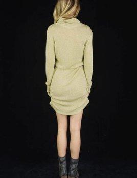 Lenni the Label Lenni Illusion Dress Gold Knit