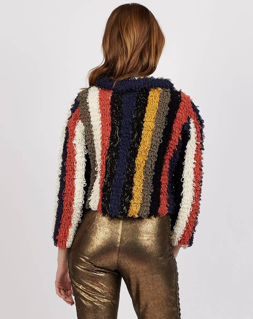 Cleobella Cleobella Isobel Shaggy Jacket Multicolor