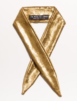 Velvet Scarf Tie Golden