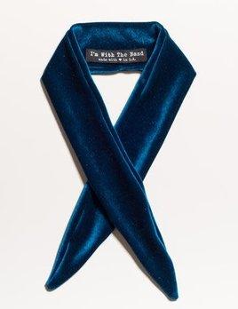 Velvet Scarf Tie Teal