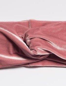 Velvet Stretch Turban Baby Pink
