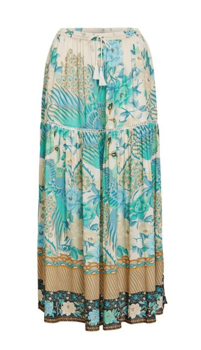 Spell and the Gypsy Collective Spell Cloud Dancer Maxi Split Skirt