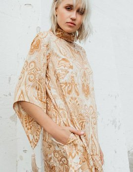 Novella Royale Novella Royale Hermosa Dress in Peach Paisley
