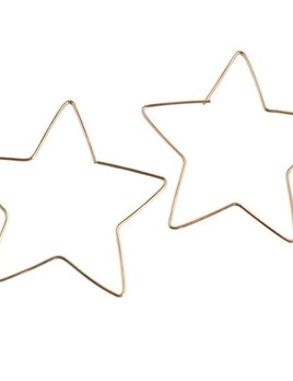 Paradigm Design Paradigm Large Star Hoops Gold Fill