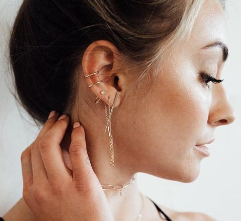 Paradigm Design Paradigm Stardust Pull Through Earrings Sterling Silver