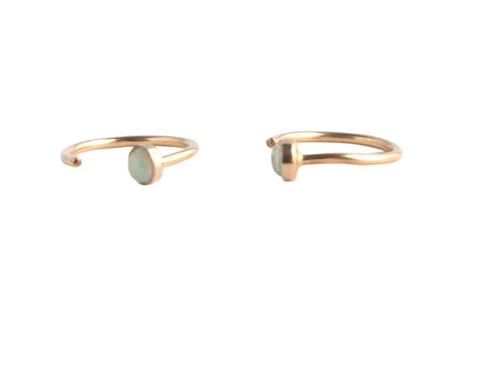 Paradigm Design Paradigm Stardust Pull Through Earrings Gold Fill