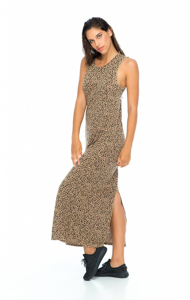 Indah Indah Maxi Tank Dress Leopard