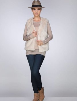 Rebecca Elliot Rebecca Elliot Champagne Furry Vest