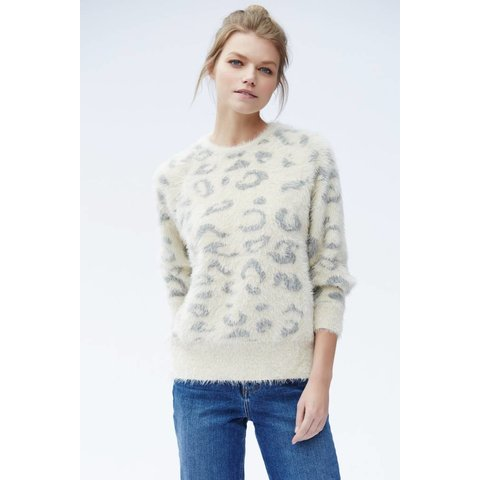 Callahan Snow Leopard Everyday Crewneck Sweater